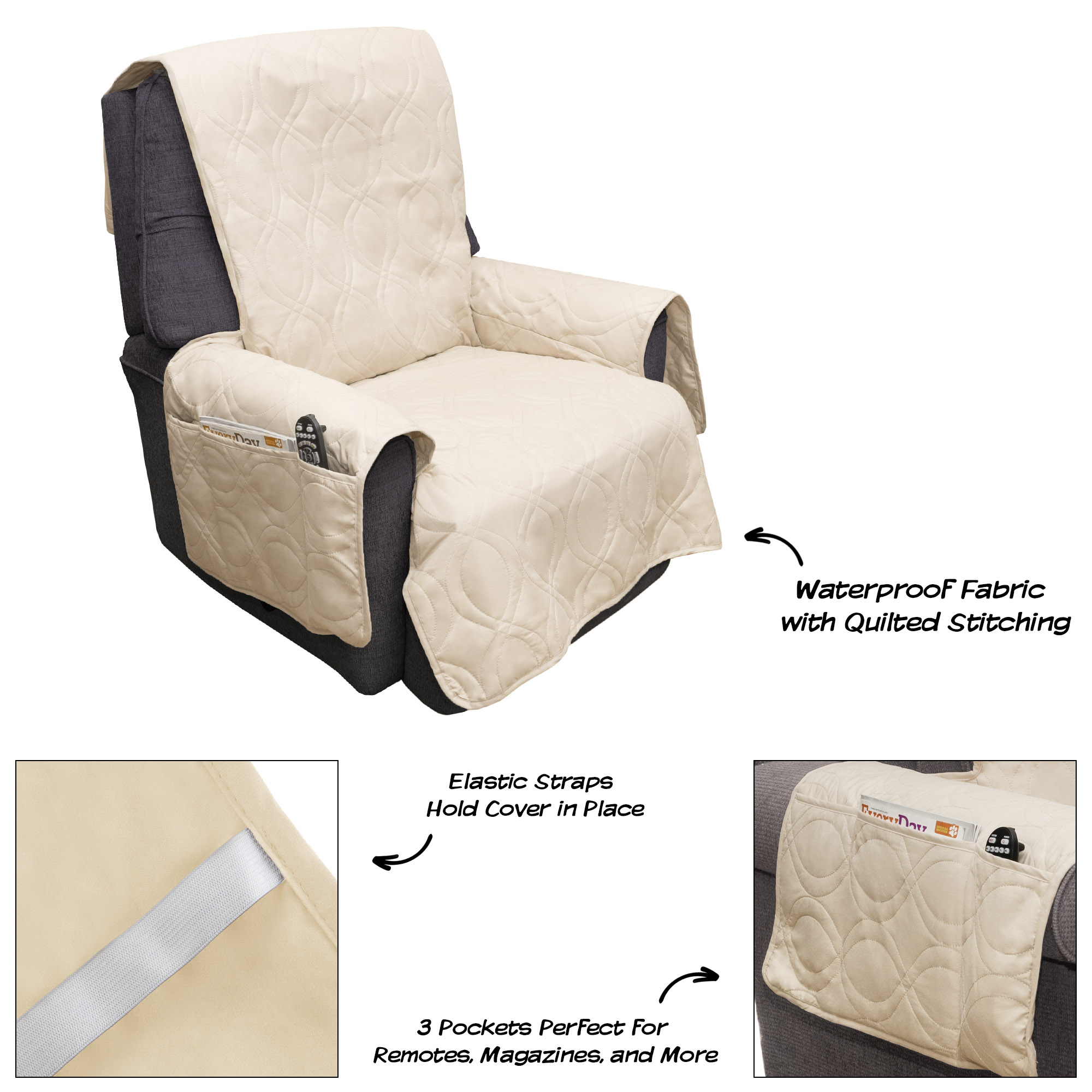 Quilted Lounge Chair Covers Furniture Cover 100 Waterproof Protector Cover For Chair