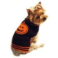 SimplyDog Pet Costumes Jack-O-Lantern Dog Sweater, XX ...