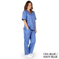 NATURAL UNIFORMS - FREE SHIPPING UNISEX CONTRAST SCRUB SET ...