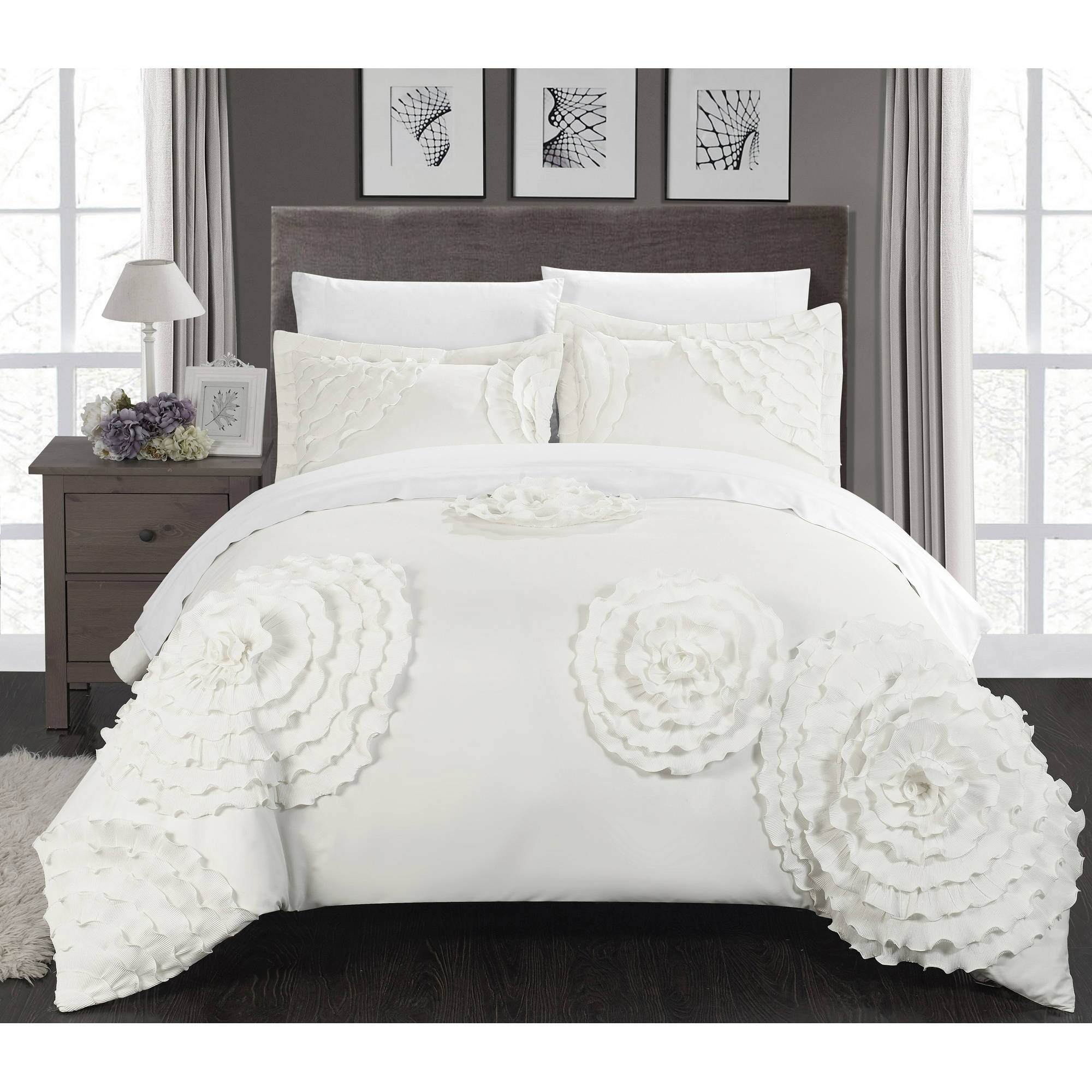Duvet And Comforter Sets Marissa 3 Piece Duvet Cover Set