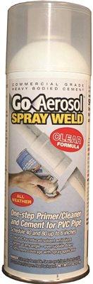 GO AEROSOL SPRAY WELD PVC PIPE PRIMER AND CLEANER, CLEAR ...