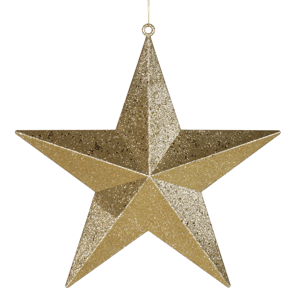 Classical gold with matching glitter christmas star ornament 20 walmart com