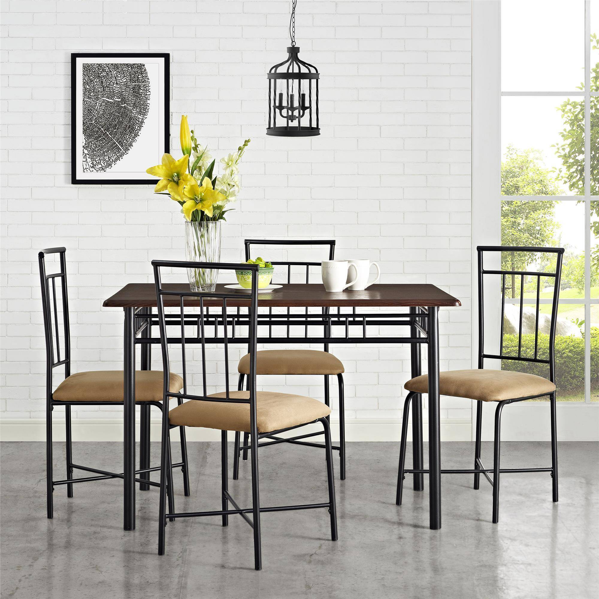 Dining Area Mainstays 5 Piece Dining Set Multiple Colors