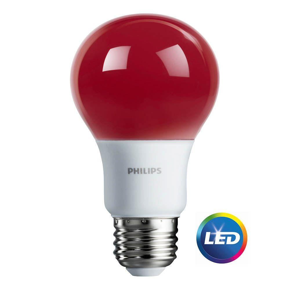 Bulb Philips Philips Led Light Bulb A19 Red 60 We