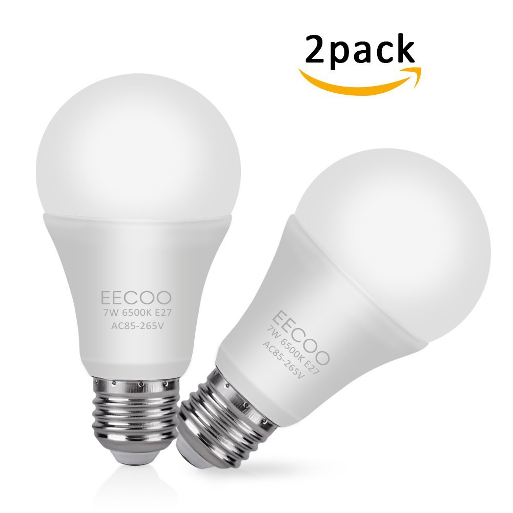 60w Light Bulb Eecoo E26 Smart Light Bulb 60w Dimmable White Led 1 Pack