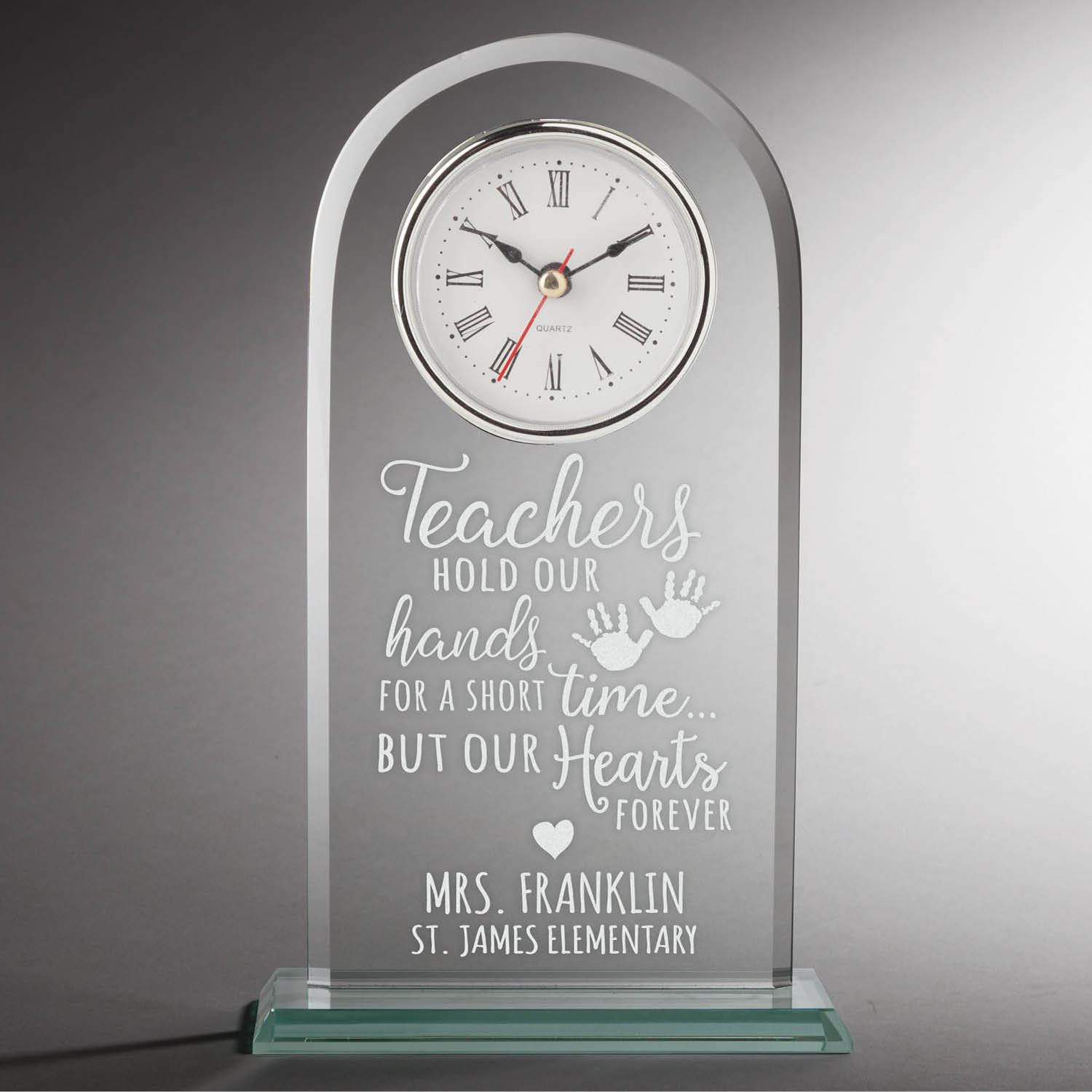 Special Clock Special Teacher Personalized Glass Clock