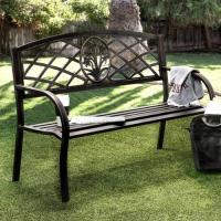 Furniture of America Narcissus Black Outdoor Bench ...
