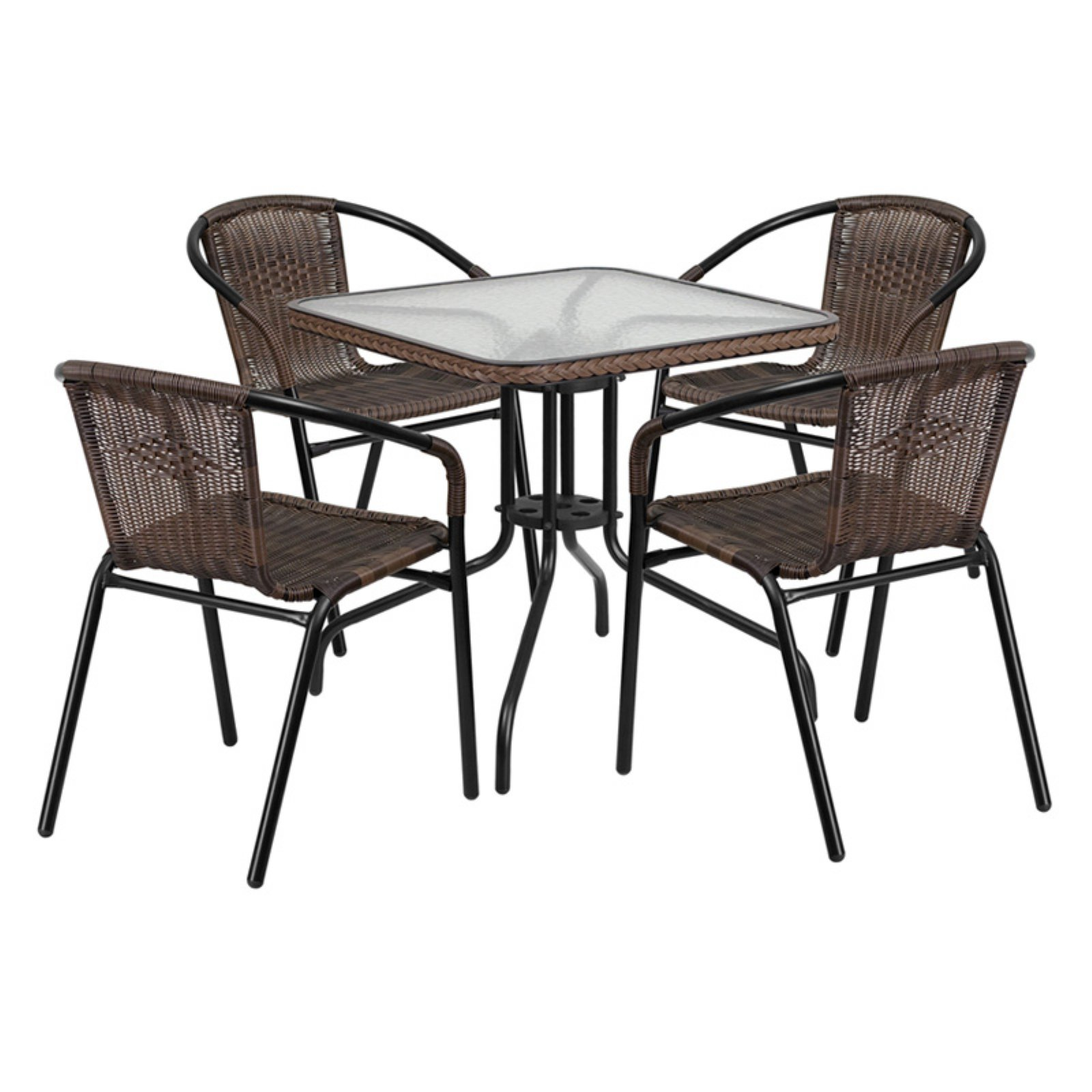 Rattan Sofa Occasion Flash Furniture 28 39 39 Square Glass Metal Table With Rattan