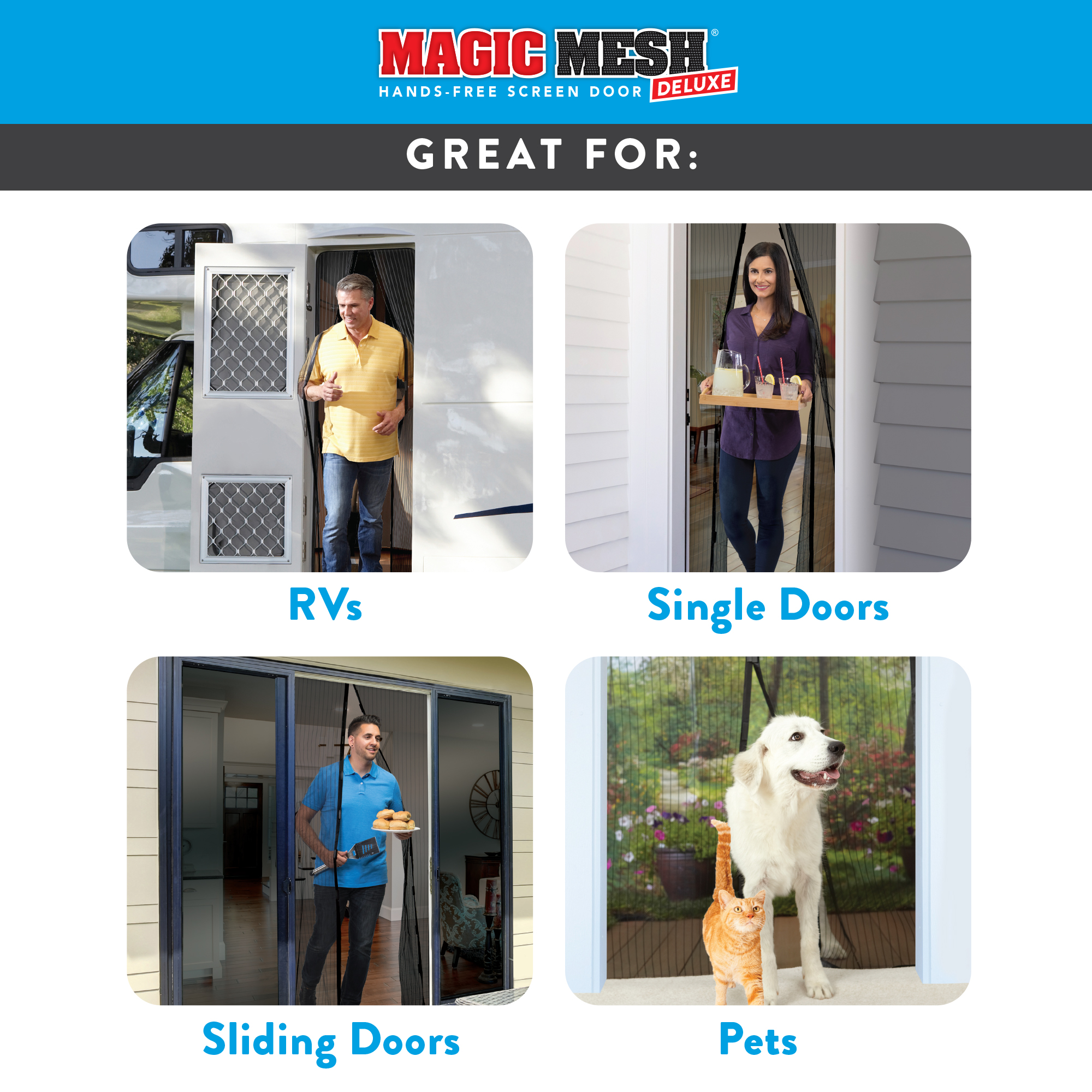 Storm Doors Edmonton Magic Mesh Deluxe Magnetic Hands Free Screen Door Cover As Seen On Tv
