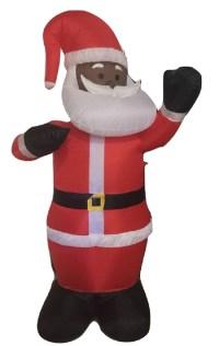 Black African American Santa Claus 8' Inflatable Airblown ...