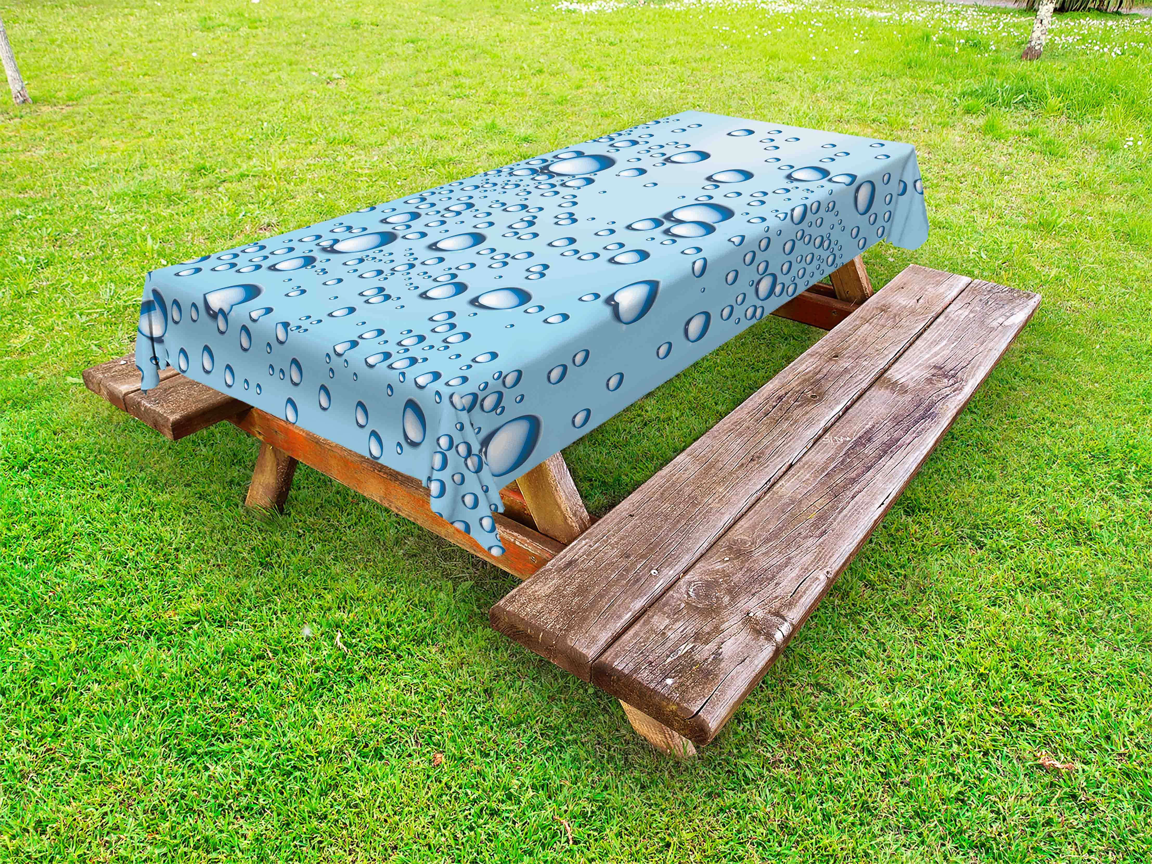 Modern Outdoor Tablecloth Water Marks Ice Cold Soda Drink