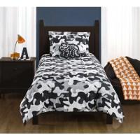 Mainstays Kids Camo Grey Bedding Comforter Set - Walmart.com