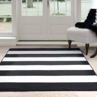 Somerset Home Breton Stripe Area Rug, Black and White ...