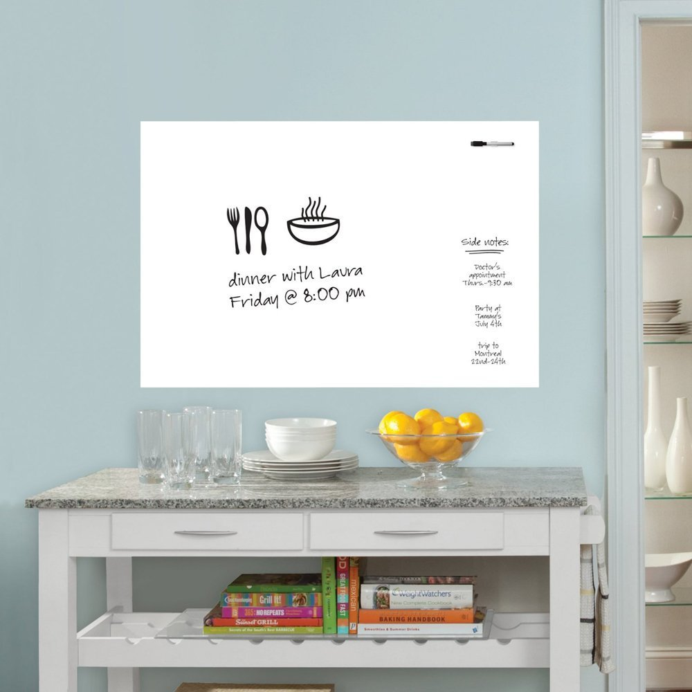 Turn A Wall Into A Whiteboard Houseables White Board Wall Sticker Whiteboard Dry Erase Vinyl Sheet 109 X 85 Cm 43