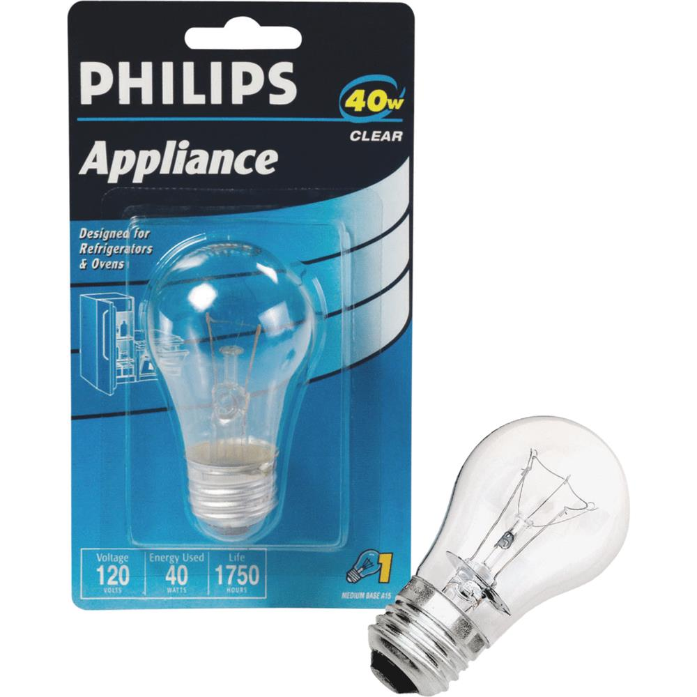 Philips Lighting Philips Lighting Co 40w A15 Clear Applnc Bulb 299990