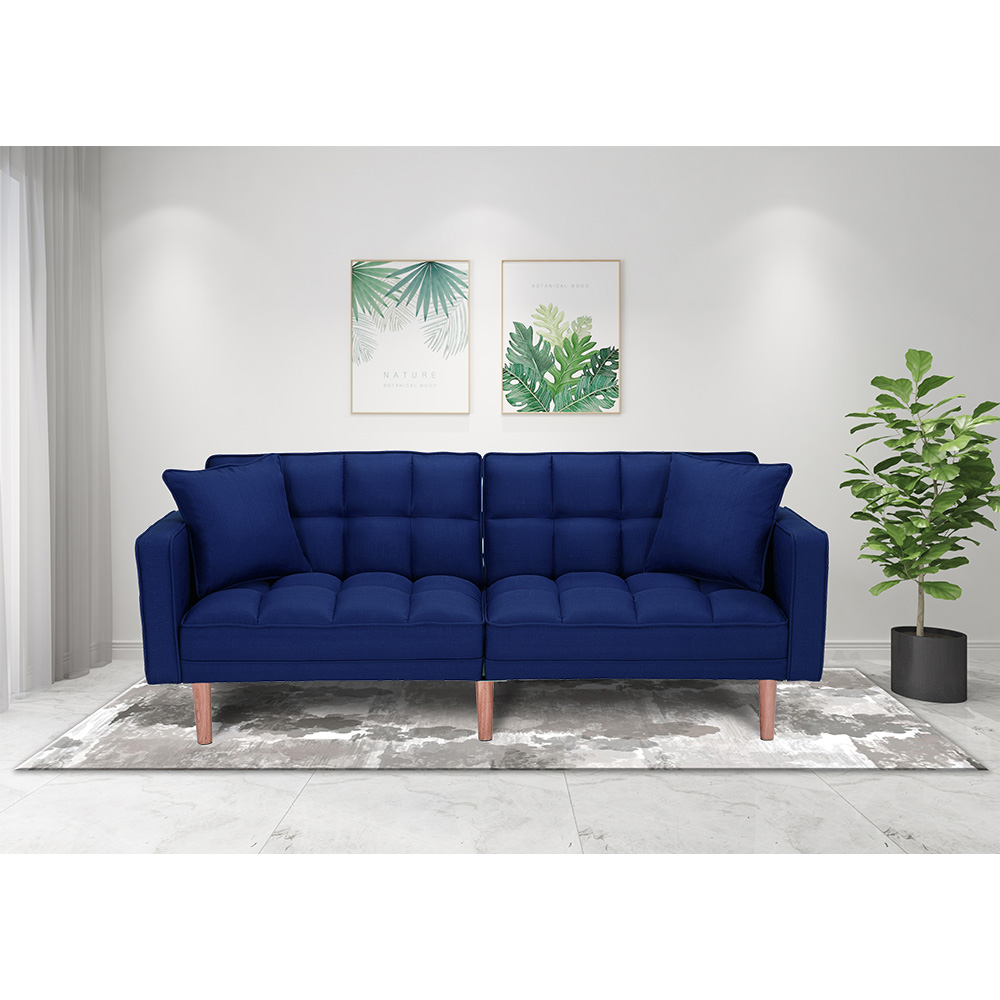 Seventh Convertible Sofa Bed With Armrest Modern Fabric Sleeper Sofa Bed Futon Couches And Sofas Sleeper With Wood Legs Two Pillows Recliner Couch Living Room Furniture Sofa For Home Q138 Walmart Com