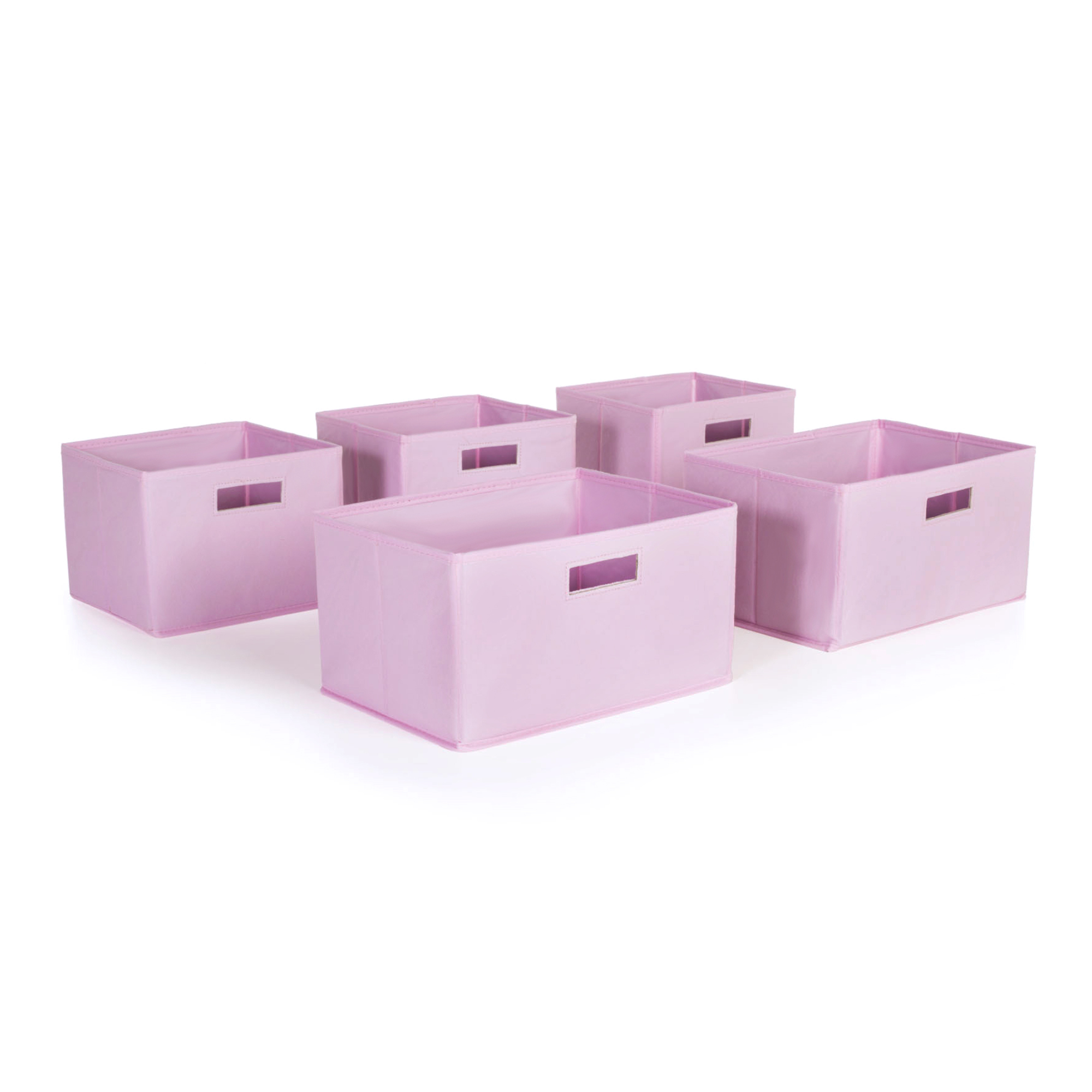 Pink Bins Pink Storage Bins Set Of 5