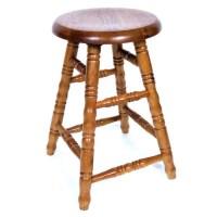 AW Furniture Solid Medium Oak Backless Saddle Swivel 30 ...