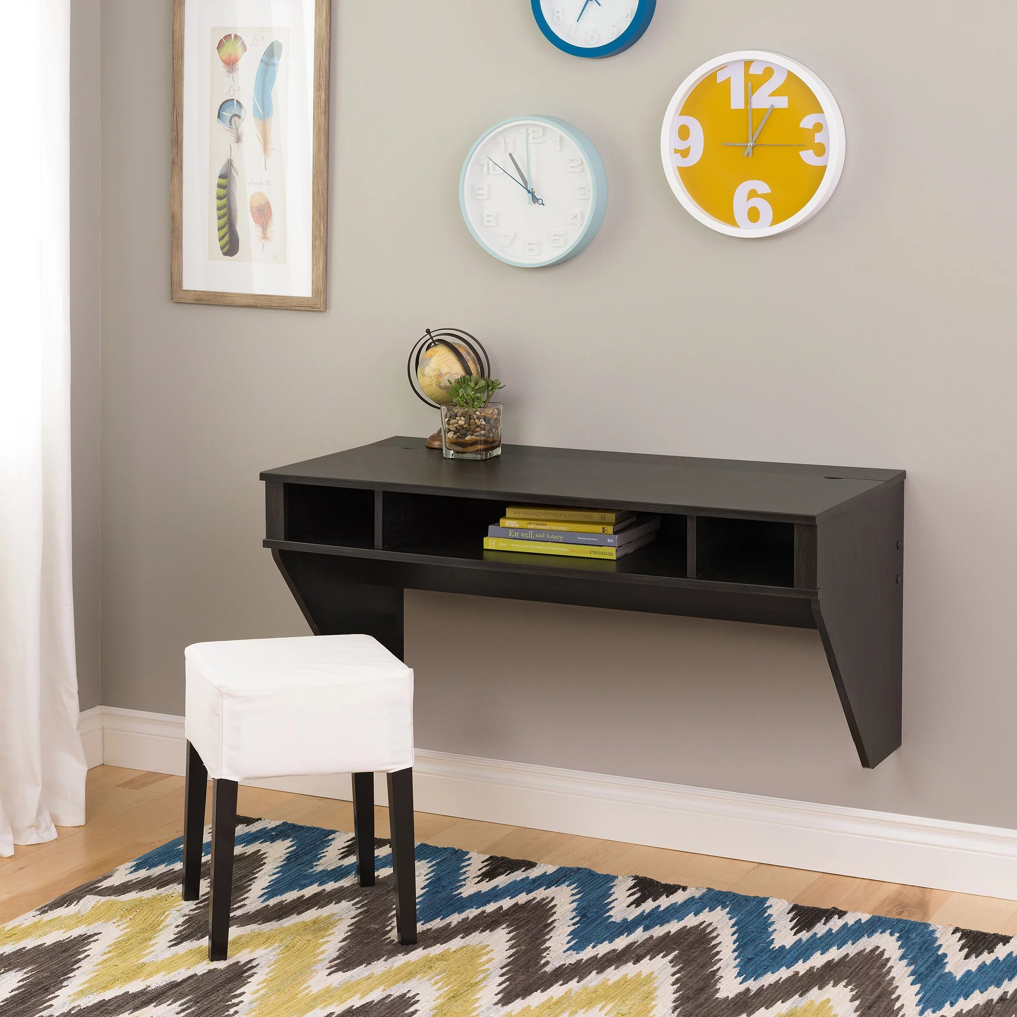 Wall Mounted Desks For Small Spaces Prepac Wall Hanging Desk