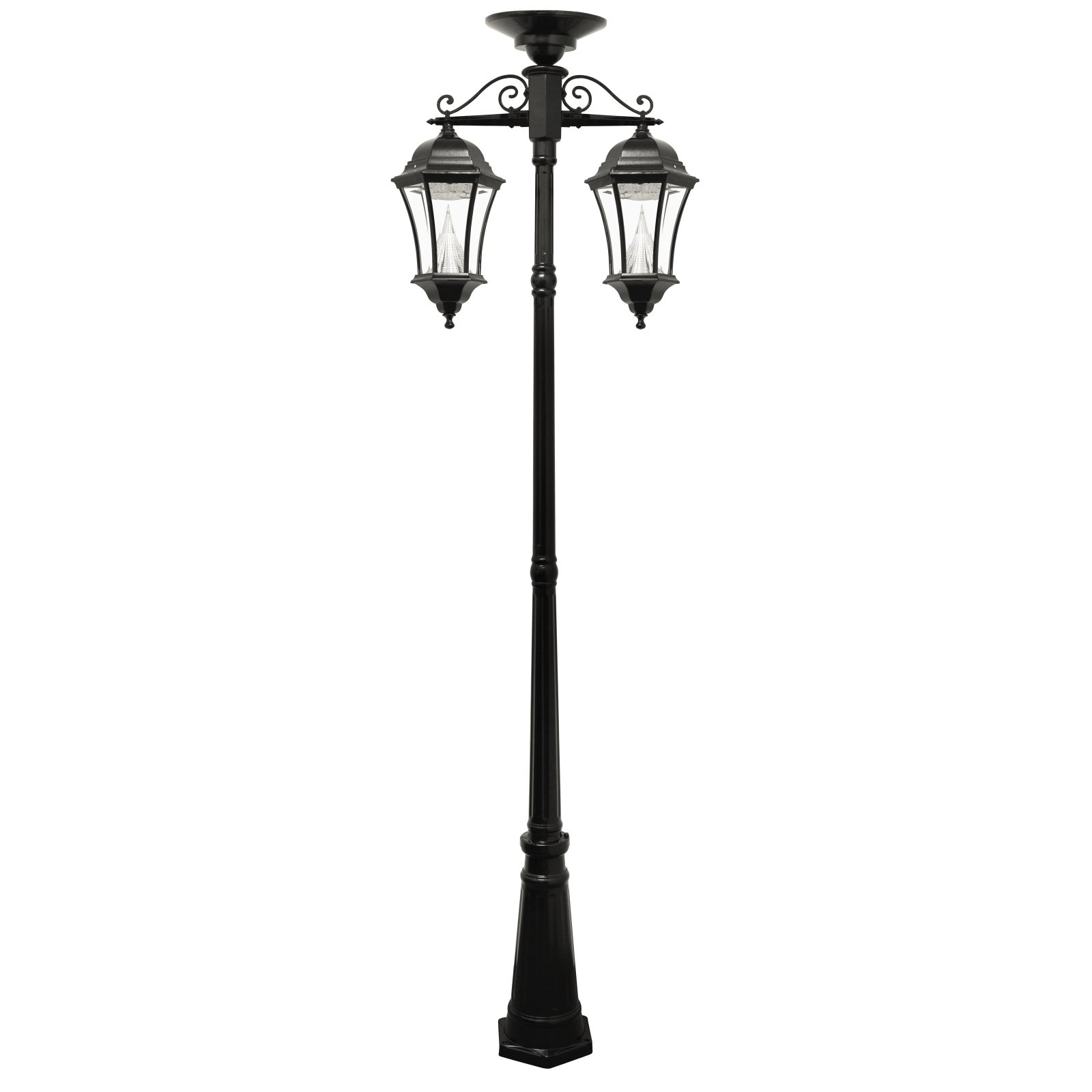 Solar Lamp Post Gama Sonic Victorian Solar Lamp Post Double Downward Hanging Led Lamps