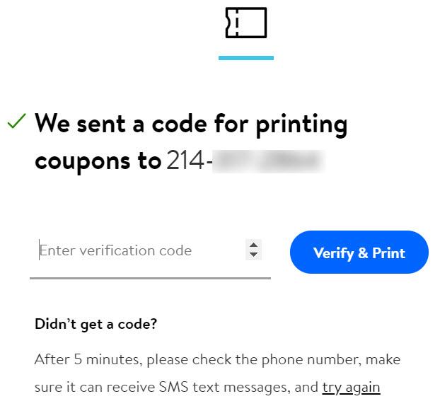 Walmart Help Printing and Using Coupons
