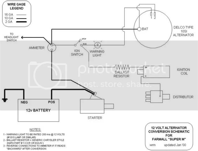 Wiring Diagram for Super M - Yesterday\u0027s Tractors