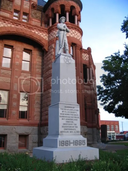 Statue Next to Waxahachie Courthouse