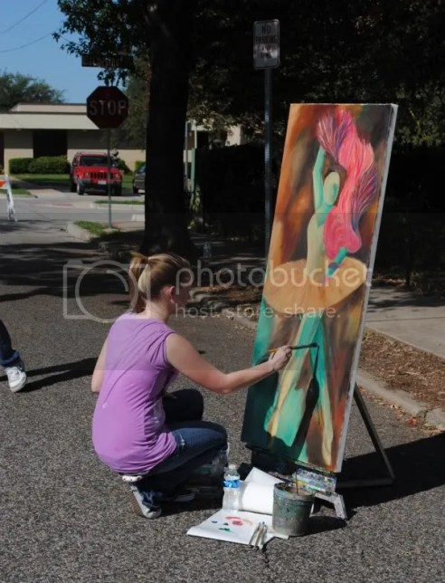 Artist at Chestnut Square