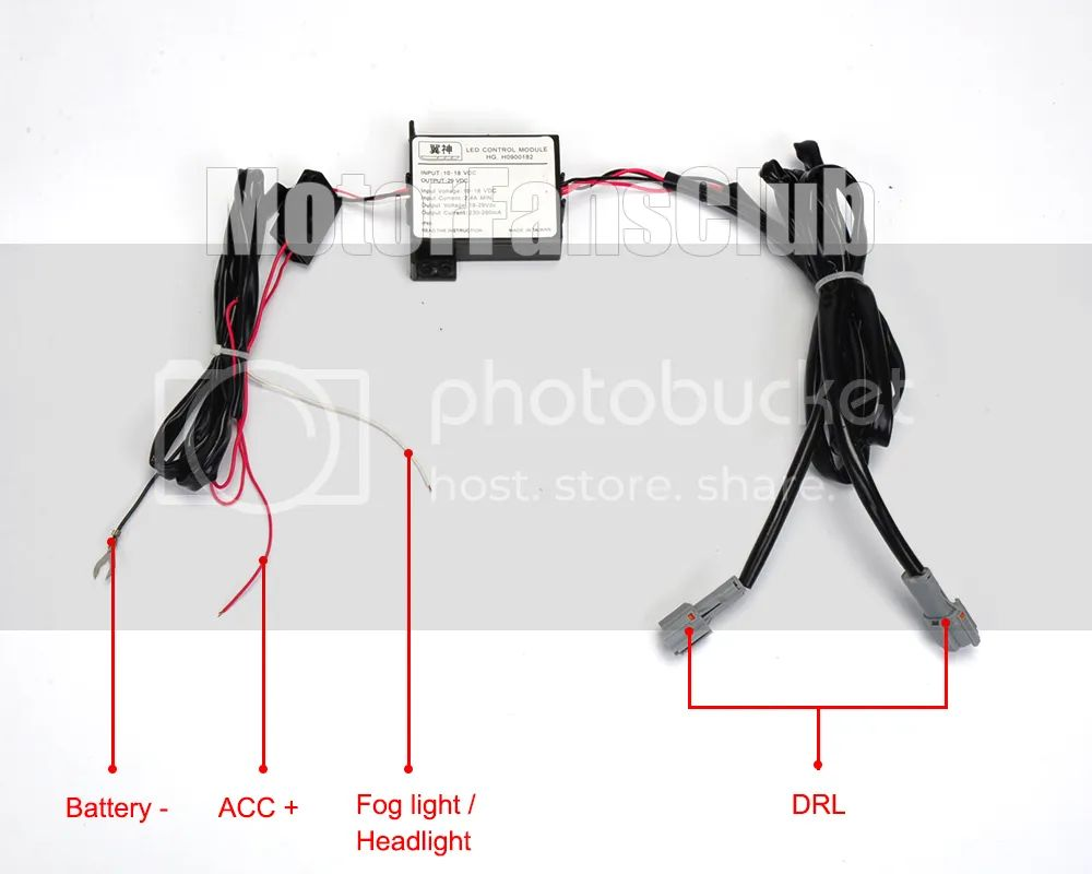 hid 12v wiring harness controller