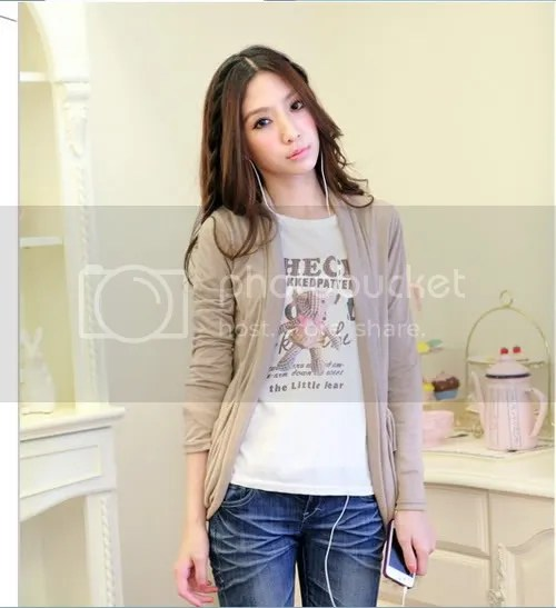 56980 pocket knit jacket (beige)