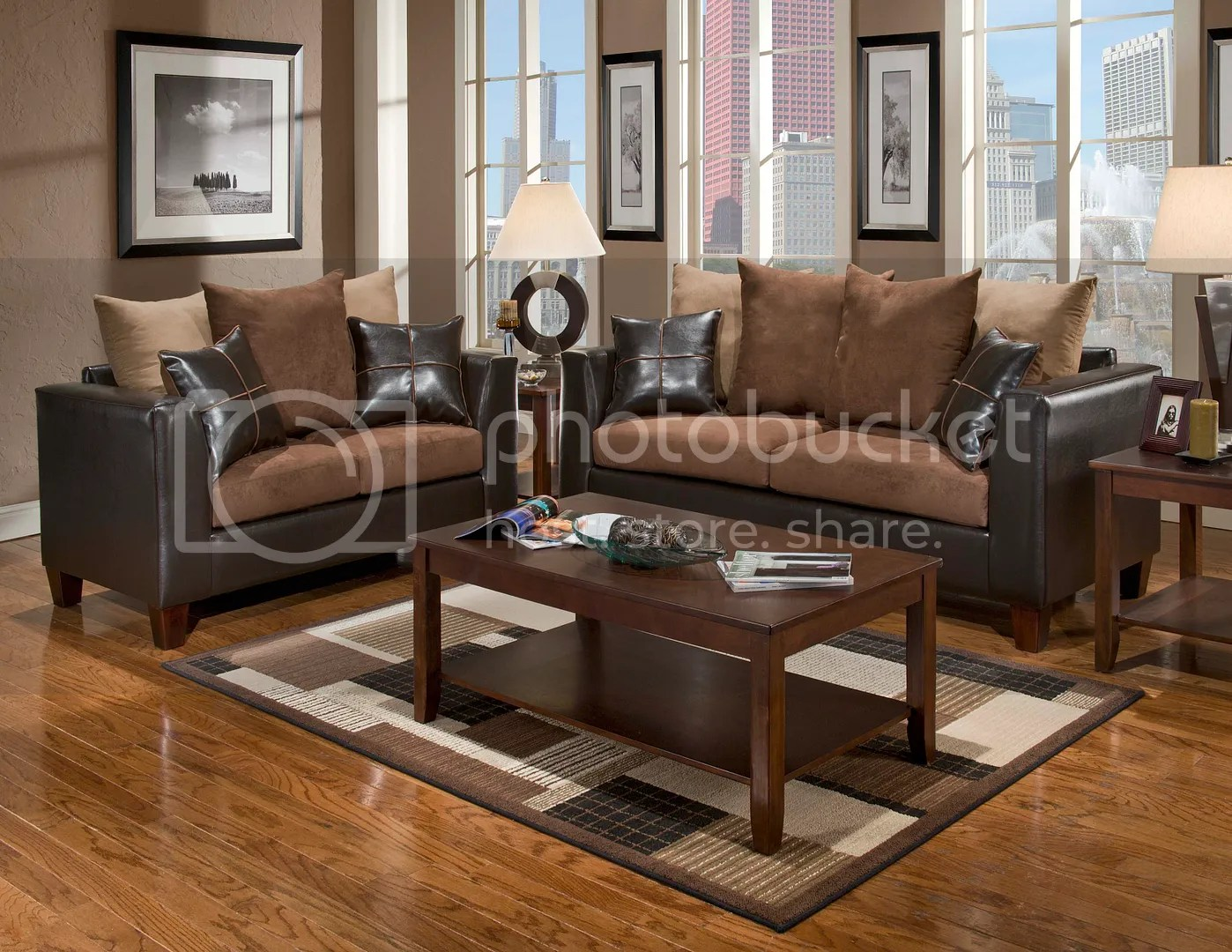 Living Room Sofas Sets Details About Casual Contemporary Chocolate Brown Sofa Love Seat Living Room Furniture Set