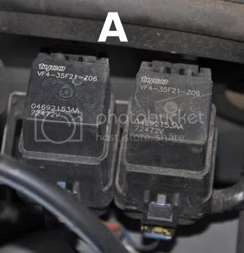 Locating Radiator Fan relays High Speed and Low Speed - PT Cruiser Forum