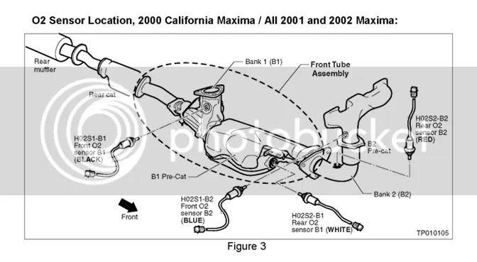 2000 nissan maxima exhaust diagram