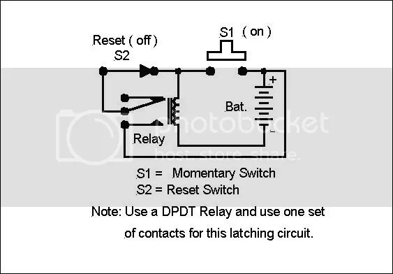 latch relay wiring diagram special applications spdt relays latching