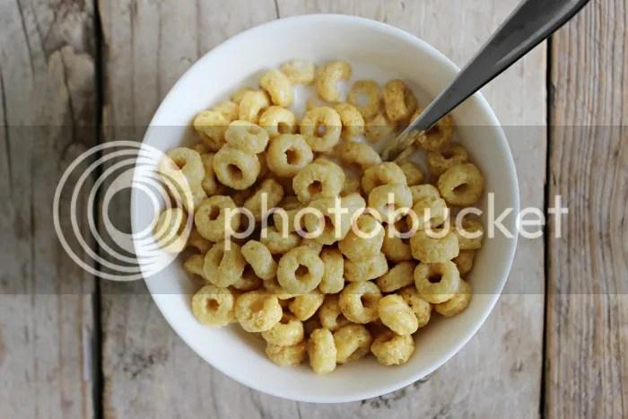 Ontbijt melk en honeypops