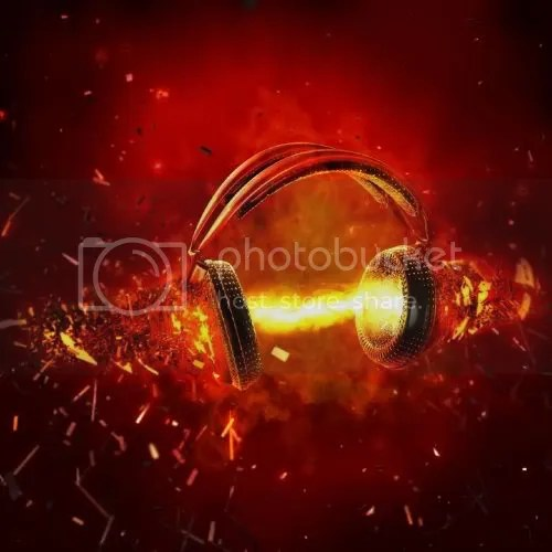 Girl Wearing Headphones Wallpaper Music Headphones Fire Pyro Pictures Images Amp Photos
