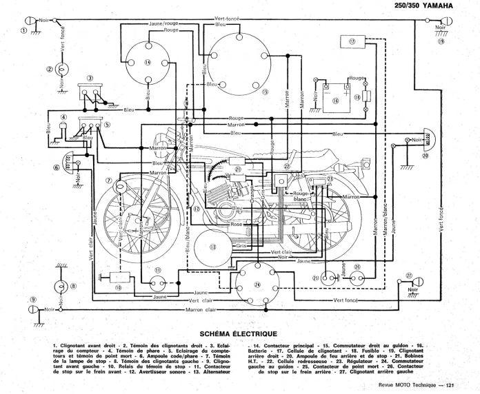 yamaha 701 schema cablage