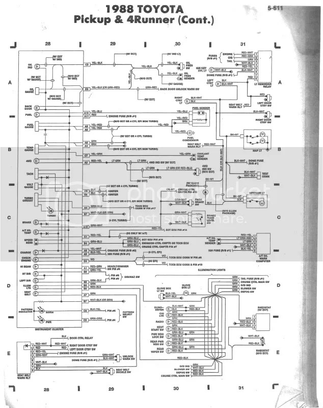 1988 Toyota Wiring Diagram Wiring Schematic Diagram