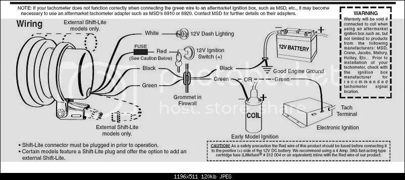 rpm gauge wiring diagram tachometer rpm meter installation in my w
