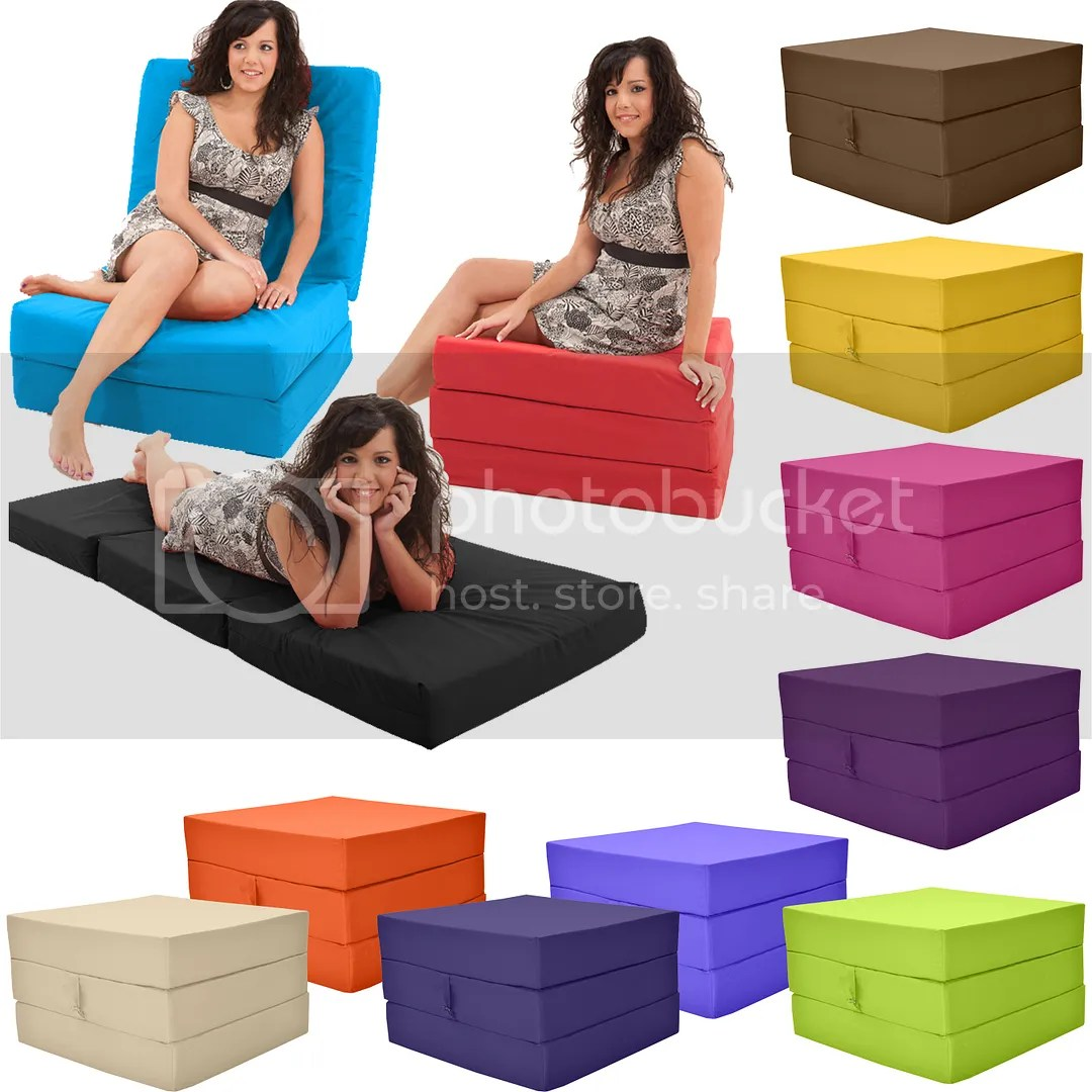 Z Beds For Adults Details About Gilda Fold Out Adult Cube Guest Z Bed Chair Stool Single Futon Chairbed Pouffe
