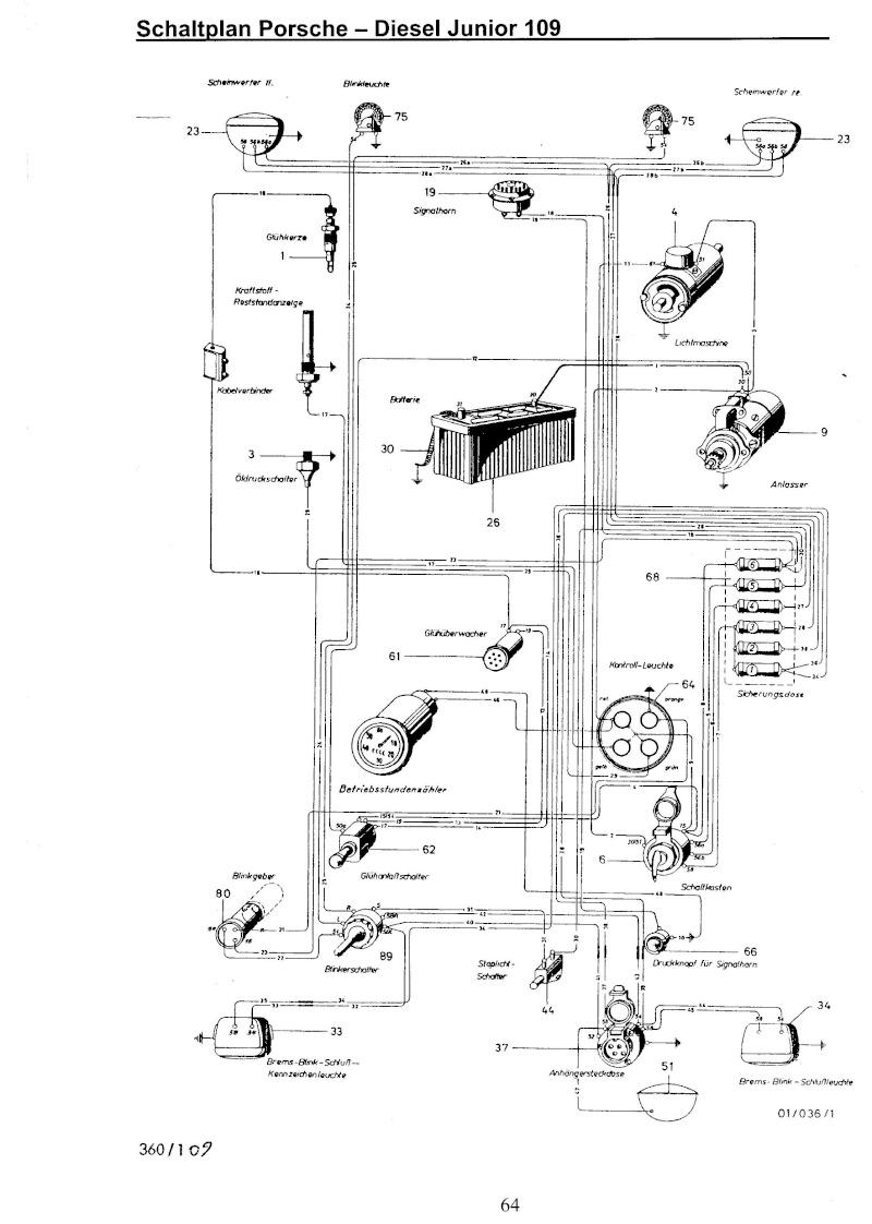 porsche schema cablage