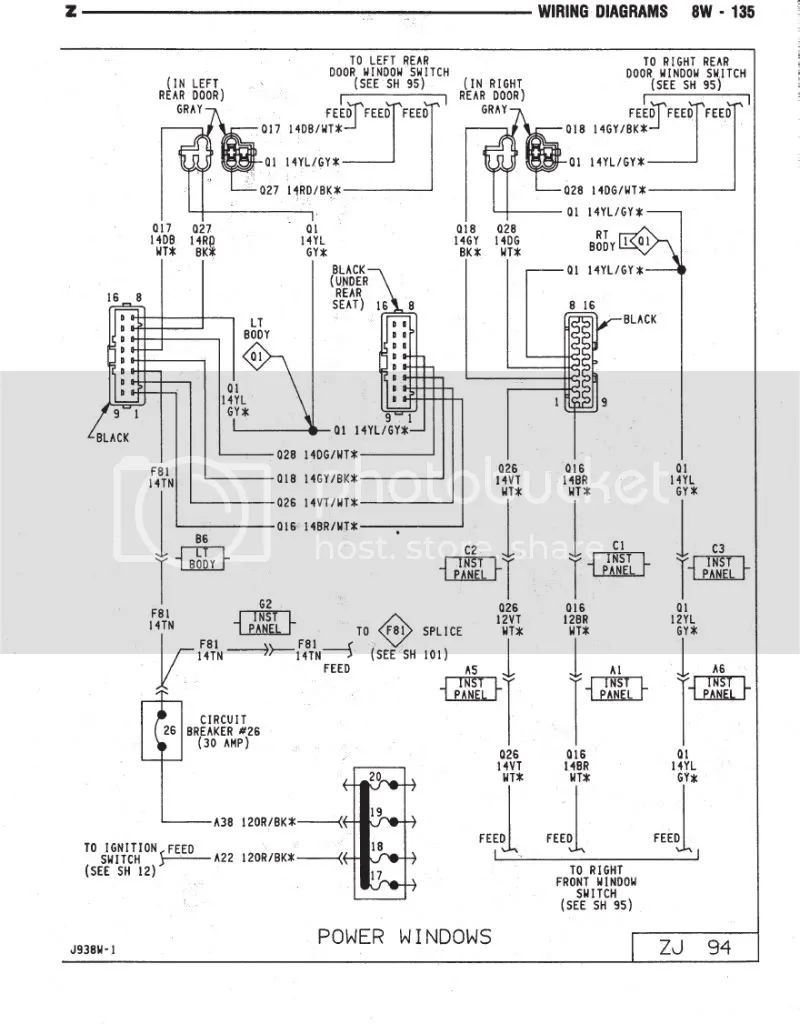 jeep cherokee engine wiring diagram