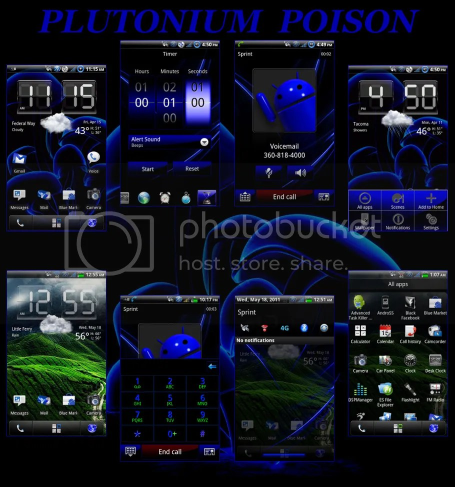 Htc Evo 3d Stock Wallpapers Vin S Poison Team Xron