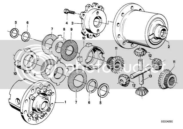 e36 bmw differential diagram
