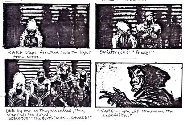 MOTU 1987 movie storyboard sequences