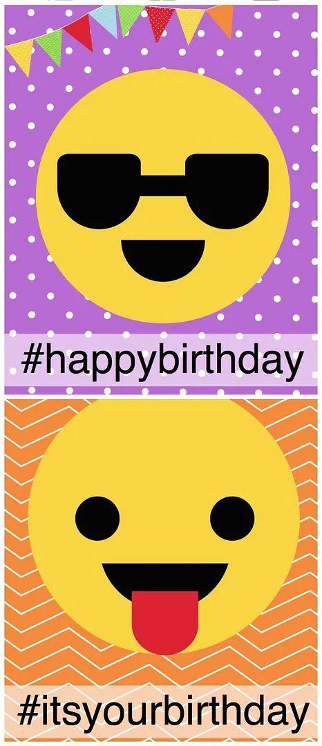 emoji birthday invitations printable free