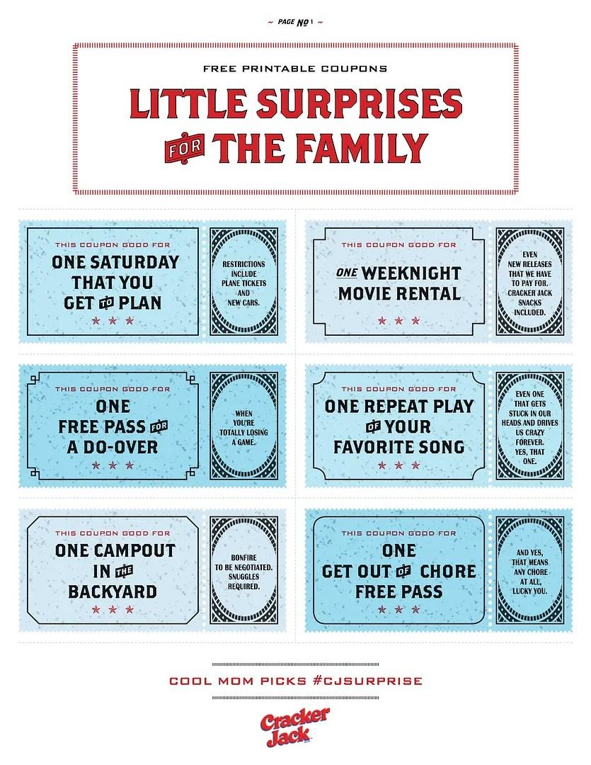 Free printable coupons that make awesome family gifts - diy printable coupons