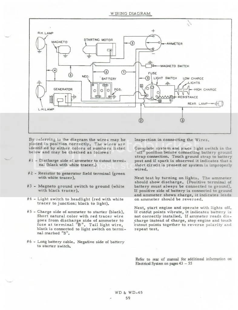 7060 Allis Chalmers Wiring Diagrams Auto Electrical Diagram Wd Schematic Ignition 33