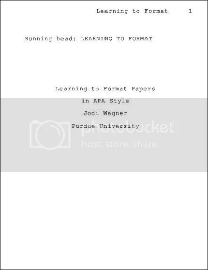 Report Writing Guidelines for the School of Biological Sciences - cover page for apa style research paper