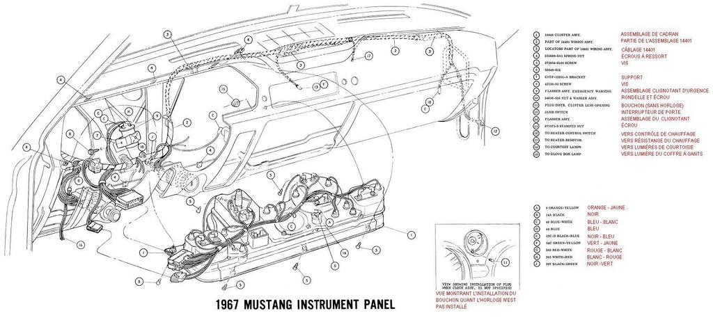1966 ford galaxie schema cablage